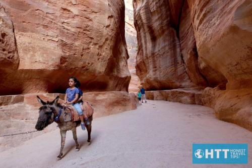 Kids on Donkey, Siq, Petra