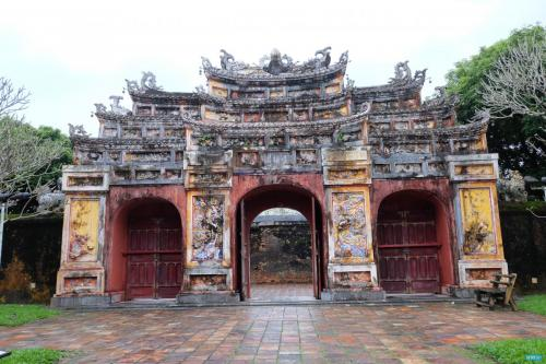 Inside the Hue Imperial Palace.