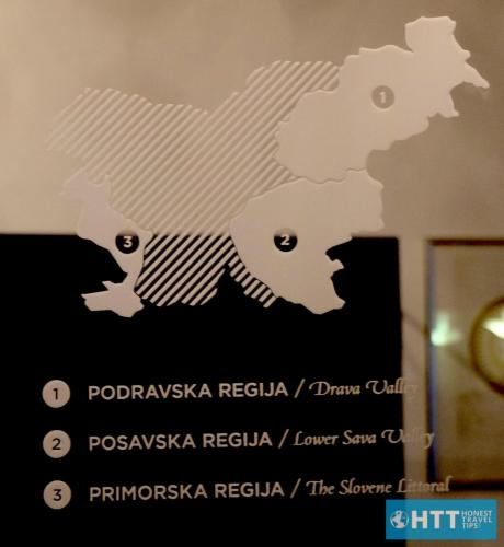 Slovenia wine map
